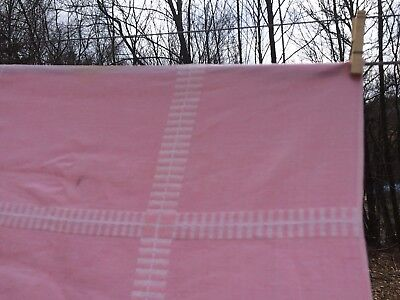 Vintage Tablecloth Pink and White cotton 48 or 50 in square