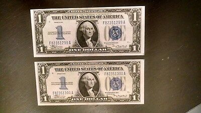 Consecutive 1934 $1 Funny Backs Ch/unc Pack Fresh Notes Fully Embossed
