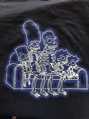The Simpsons Skeletons T-Shirt Size 2XL Vintage