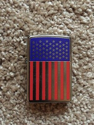 Zippo Windproof Lighter USA American Flag - Sealed - New - Out Of Box