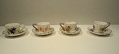 Canadian Superior Doll Sized Cup and Saucer Set of Four