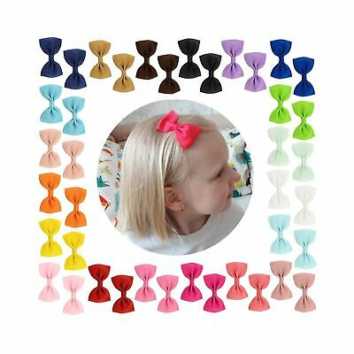 20Pcs Small Baby Hair Bows Ribbon Clips for Girls Toddlers Kids Infant Fine H...