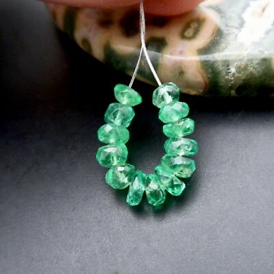 COLOMBIAN EMERALD STUNNING GENUINE GEM AAAAA+ 3.7-4.2mm BEADS 3.40cts *RARE