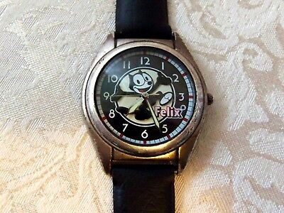 Vtg FELIX THE CAT Fossil Limited Edition Mood Watch, WORKS, Look at Photos