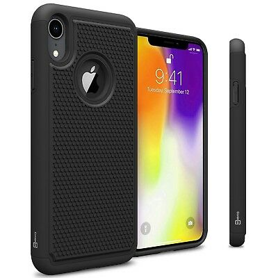 Black Hard Case For Apple iPhone XR / 10R Hybrid Shockproof Phone Cover
