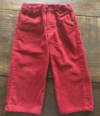 JANIE AND JACK Classics Boys Red Corduroy Pants Size 18-24M