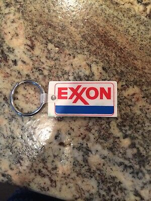 Bae's Exxon Gas Oil Station Pasadena Texas Keychain Key Ring