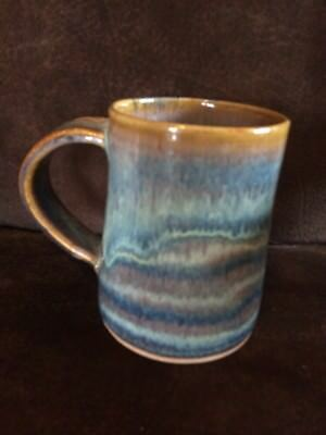 Hand-Crafted Coffee Mug made in Villa Grove, Colorado Always Azul Pottery  LARGE