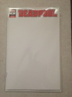 Deadpool #1 (2018) Blank Variant NM