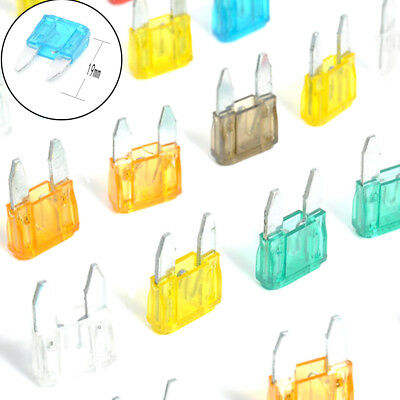 35Pcs/Set MIXED Mini Blade Fuse AUTO Car Motorbike 5 7.5 10 15 20 25 30 AMP