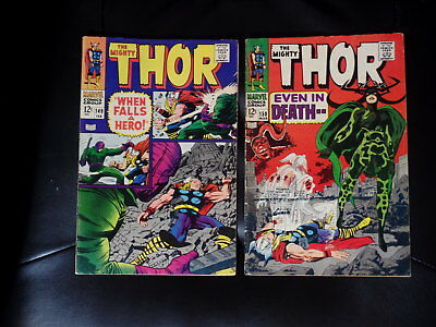 Mighty Thor Two Issue Lot #149 & 150 Fine or Better — No Reserve