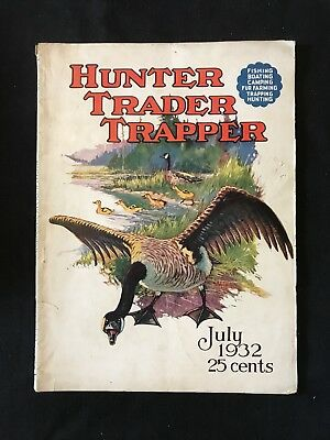 Antique Hunter Trader Trapper Magazine 1932 Outdoor Hunting Cover Art