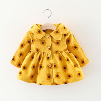 Newborn Infant Baby Girl Cotton Outerwear Hooded Coat Jacket Kids Casual Clothes
