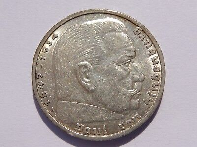 1935 A Germany Third Reich 5 Reichsmark Xf No Reserve! Super Nice! Must See!!