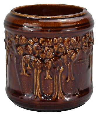 Decorative Brush McCoy Pottery Woodland High Glaze Jardiniere 107