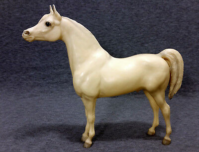 Vintage Breyer Molding Co White Stallion Standing Horse Collectible Made In USA