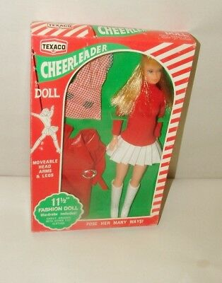 % 1960's Texaco Gas Cheerleader With Clothing Mint In Original Box