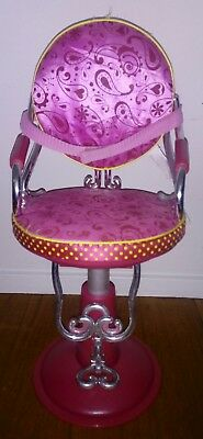 "Our Generation Sitting Pretty Salon Chair Hot Pink 18"" Doll Beauty Seat"