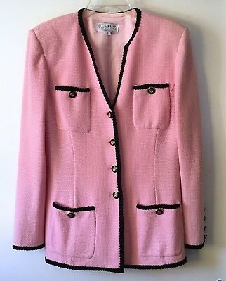 ST. JOHN Collection by Marie Gray Beautiful Shimmer Pink Blazer Jacket Sz 10