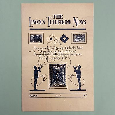 """1918, March """"THE LINCOLN TELEPHONE NEWS, BY LINCOLN T&T COMPANY, NEBRASKA"""