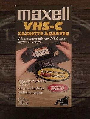 Maxell VHS-C Manual Cassette Tape Adapter VP-CA