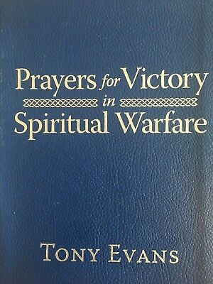 Prayers for Victory in Spiritual Warfare luxury bound cover by Tony Evans (Imita