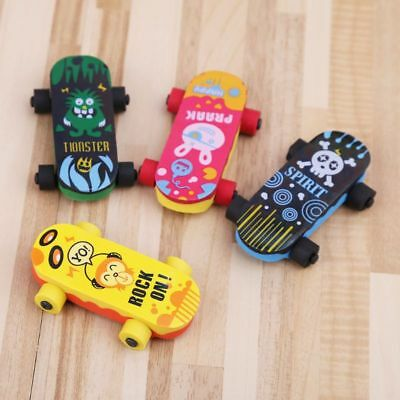 Creative Skateboard Eraser Pencil Rubber Cleaner Stationary Supply Gift Kids Toy