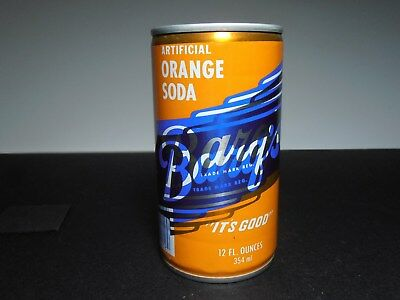 Vintage Barq's orange soda steel can; Misprint error of label