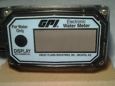 """Electronic Water Meter GPI 01N31GM 150 psig 3/4"""" NEW FREE SHIPPING USA"""