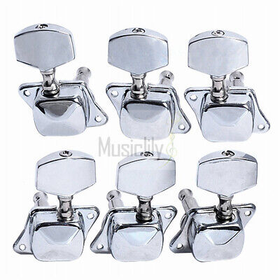 Black 6 Inline Guitar Locking Tuning Pegs Machine Heads Tuners For Right Hand