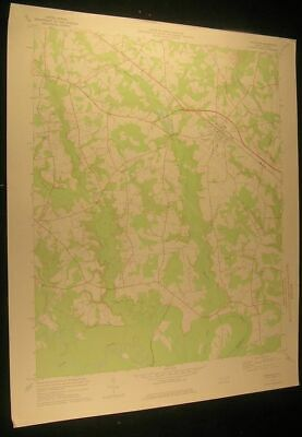 Princeton North Carolina Raynor Town 1976 vintage USGS original Topo chart map