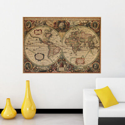 "OLD WORLD MAP POSTER  ANTIQUE GEOGRAPHY VINTAGE POSTERS  20"" x 28"""