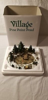 """Department 56 Village Accessory #52618 """"PINE POINT POND""""Issued 1995 Retired1999"""