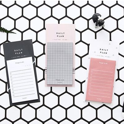 Daily Plan To Do List Weekly Monthly Memo Pad Sticky Notes Bookmark Planner