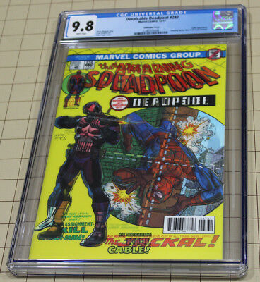 DESPICABLE DEADPOOL #287 CGC 9.8 Lenticular AMAZING SPIDY #129 Cover Homage  !!