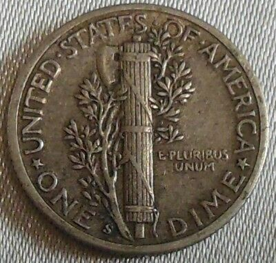 WW2 United States 1943s Mercury Dime US 10 Cents Silver Coin WWII