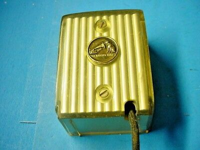 Vintage Golden Microphone for Orthophonic High Fidelity RCA Victor Tape Recorder