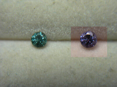 Color Change Garnet Gem RARE Blue Green Purple Bekily Madagascar diamond cut r12