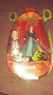 Shrek 2 Princess Fiona With Spin Kick Action Package With Damage 2004 New