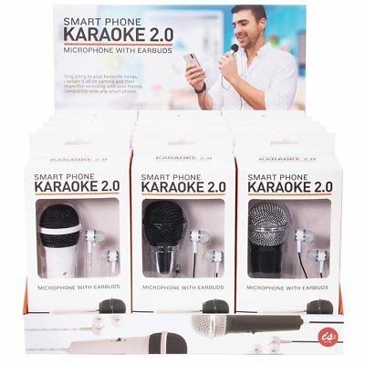 New IS Gift KARAOKE 2.0 smart phone microphone with earbuds