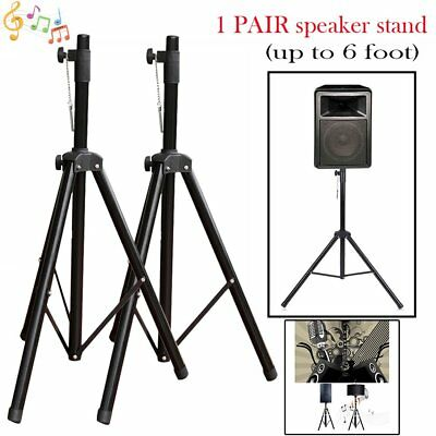 Set of 2 With Tray Heavy Duty Tripod DJ PA Speaker Stands Adjustable Height B2