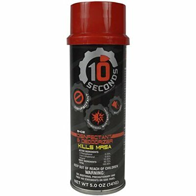 10 Seconds SHOE DISINFECTANT and DEODORIZER Spray 5oz Kills MRSA EPA-Approved