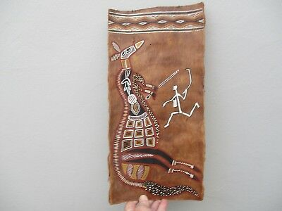 A Vintage Folk Art Australian Aboriginal Bark Painting 1950s?