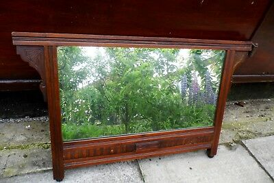 Victorian overmantel mirror 19th century over mantel hanging antique over mantel