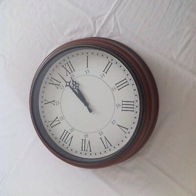 Antique Looking  Wall Clock 24 Hours THIS ITEM IS COLLECTION ONLY