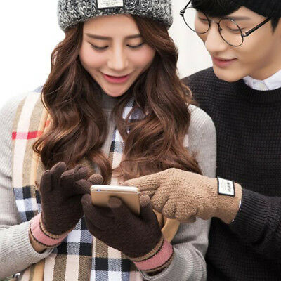 Lovers Knitted Winter Thermal Thinsulate Insulation Lined Touch Screen Gloves LK