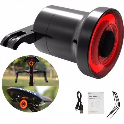 XLite100 Waterproof Bicycle Smart Brake Sensor LED USB Tail Light Rear Lamp CHZ