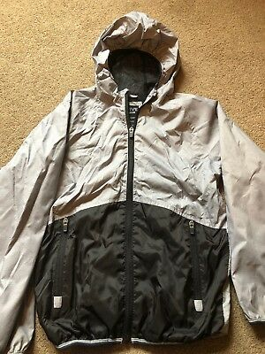 boys clothes - Lightweight Grey/Black Hooded Jacket Age 11-12 Years From Primark