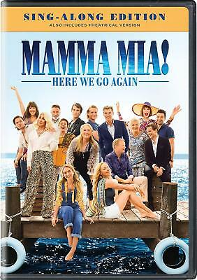 Mamma Mia 2 - Here We Go Again (DVD, 2018) Sing-Along Edition, Brand New
