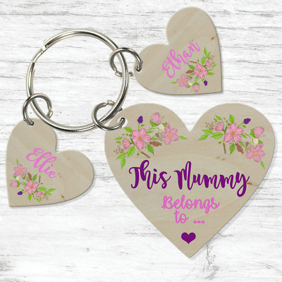 Personalised Heart Gifts For Her Mum Nanny Gran Auntie Sister Godmother Keyring